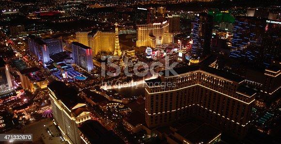 istock Las Vegas Aerial View 471332670