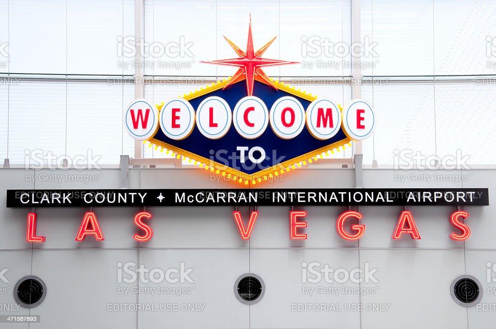 Las Vegas Airport royalty-free stock photo