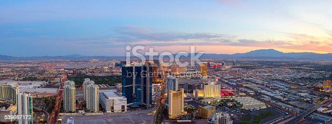 Panoramic View of Las Vegas at Dusk