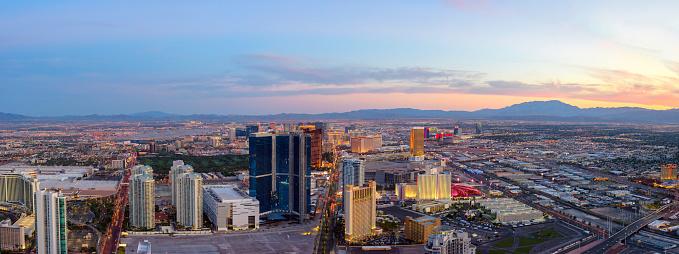 Las Vegas at dusk Panorama