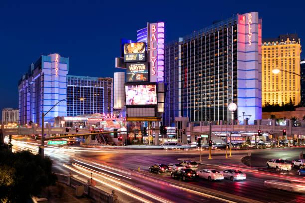 Las Vegas at night, Nevada, USA stock photo