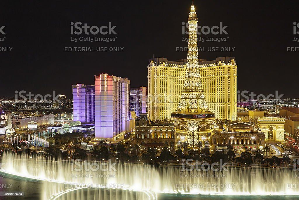 Las Vegas at Night royalty-free stock photo