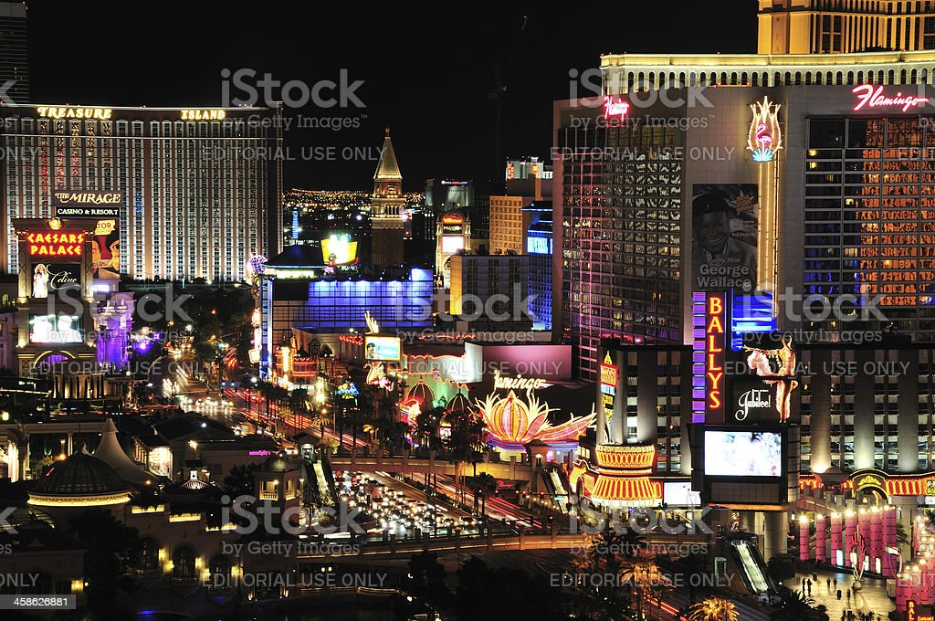 Las Vegas At night stock photo
