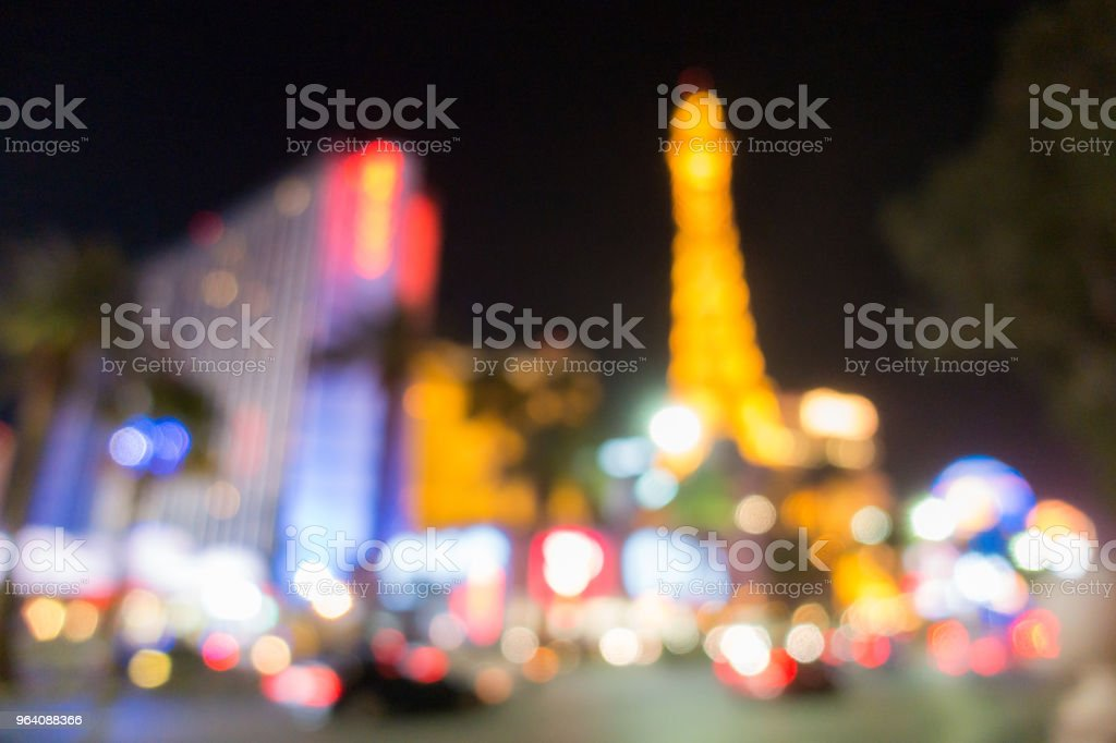Las Vegas Blurred background night - Royalty-free Abstract Stock Photo