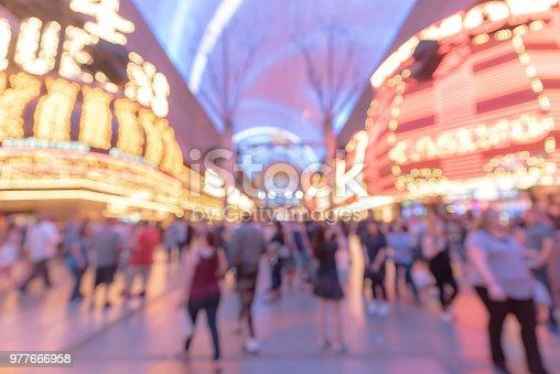 istock Las Vegas Blurred background night 977666958