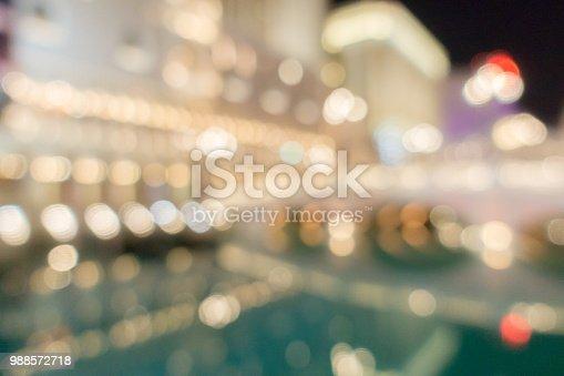istock Las Vegas Blurred background night 988572718