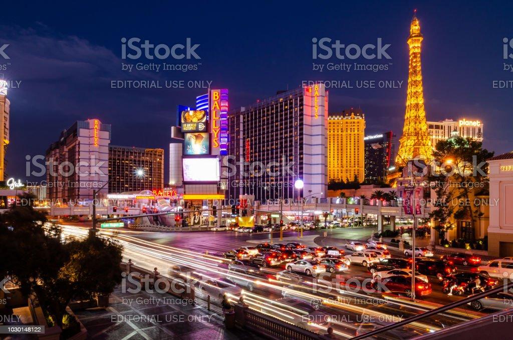 Las Vegas Boulevard & Flamingo Road stock photo