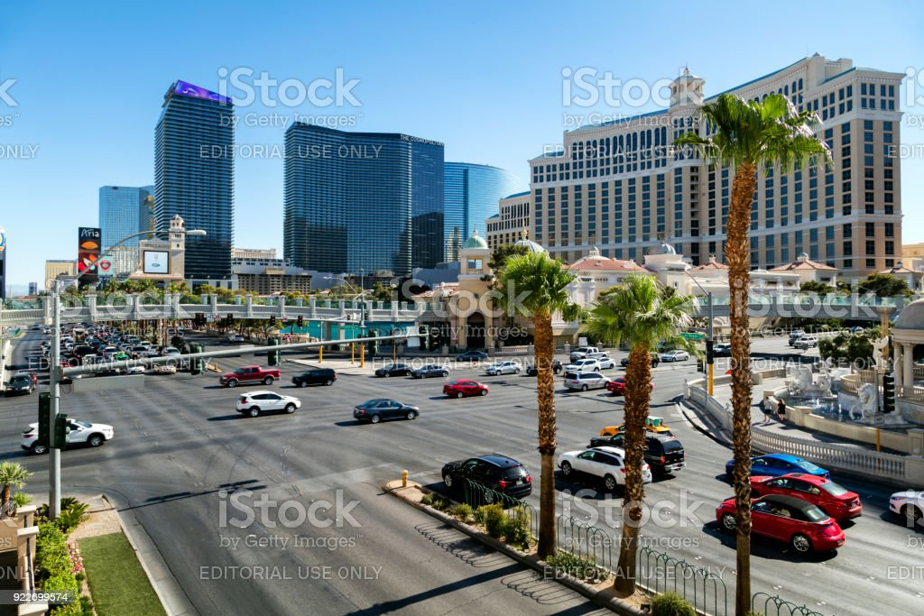 Las Vegas Boulevard (The Strip), Las Vegas, Nevada, USA stock photo