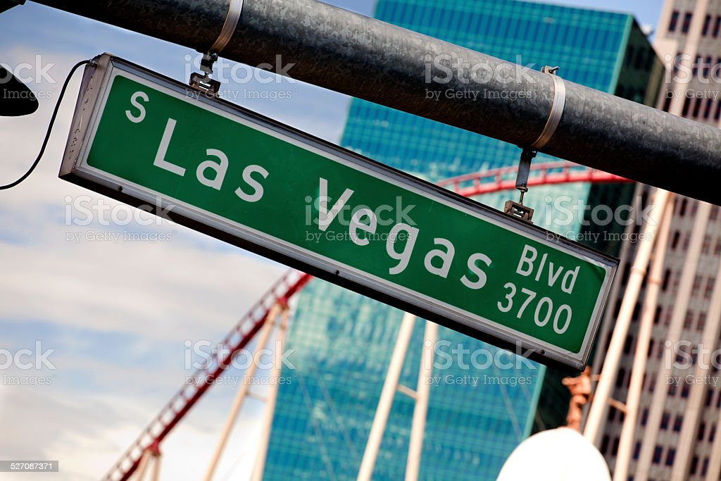 Las Vegas Boulevard  Sign stock photo