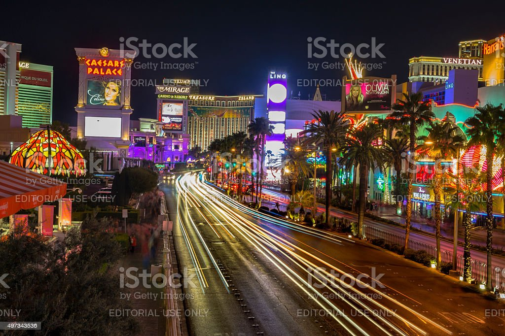 Las Vegas Boulevard. The strip. stock photo