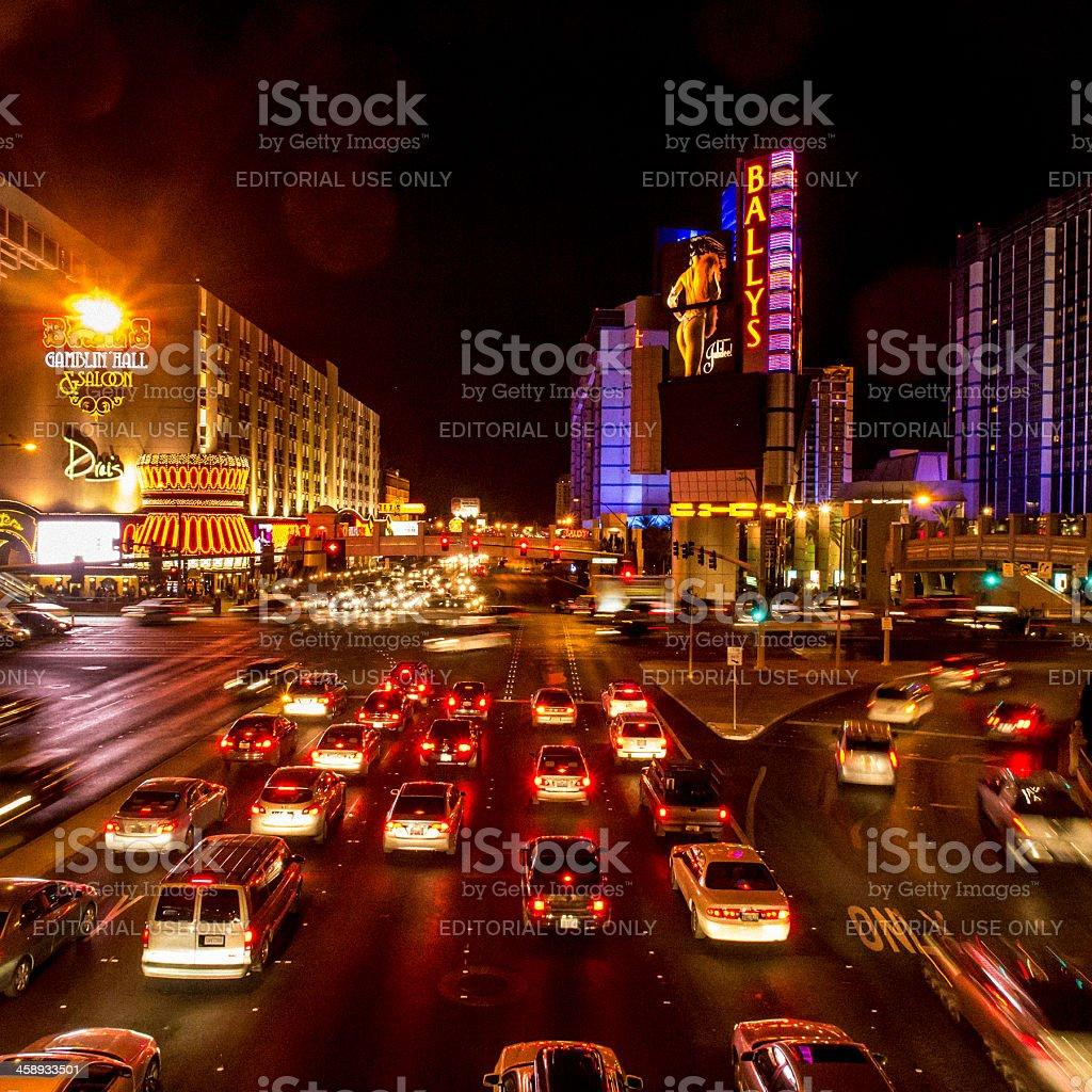 Las Vegas Boulevard traffic royalty-free stock photo