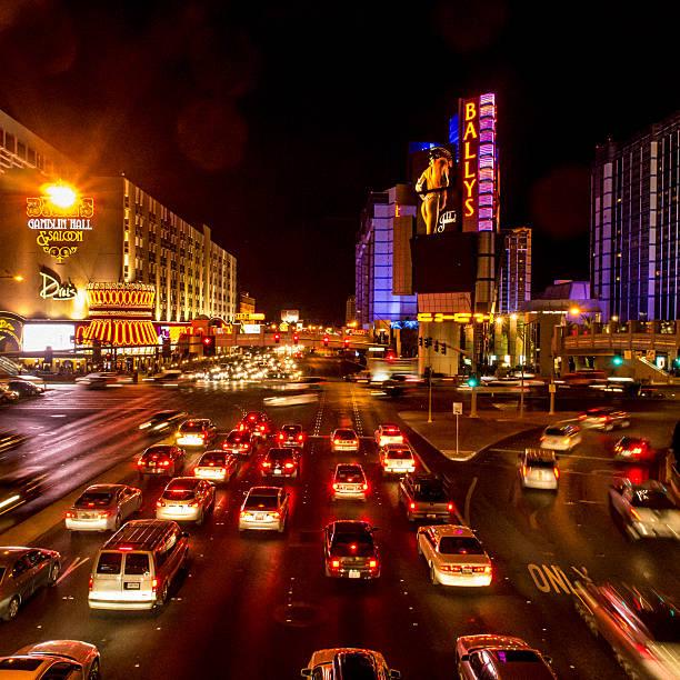 Las Vegas Boulevard traffic stock photo