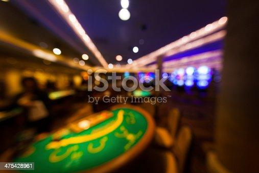 istock Las Vegas Casino and Poker Table, Usa 475428961