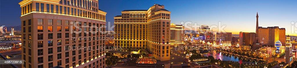 Las Vegas, City of Sin, The Strip at sunrise. stock photo