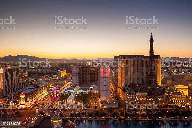Las Vegas City Sunset Stock Photo - Download Image Now