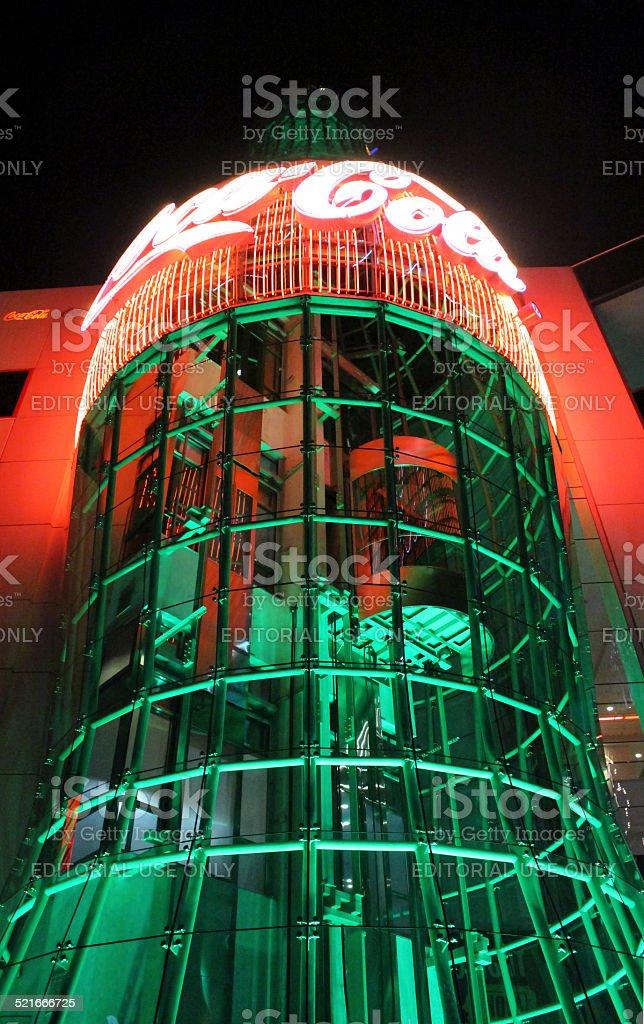Las Vegas Coca Cola Store by Night stock photo
