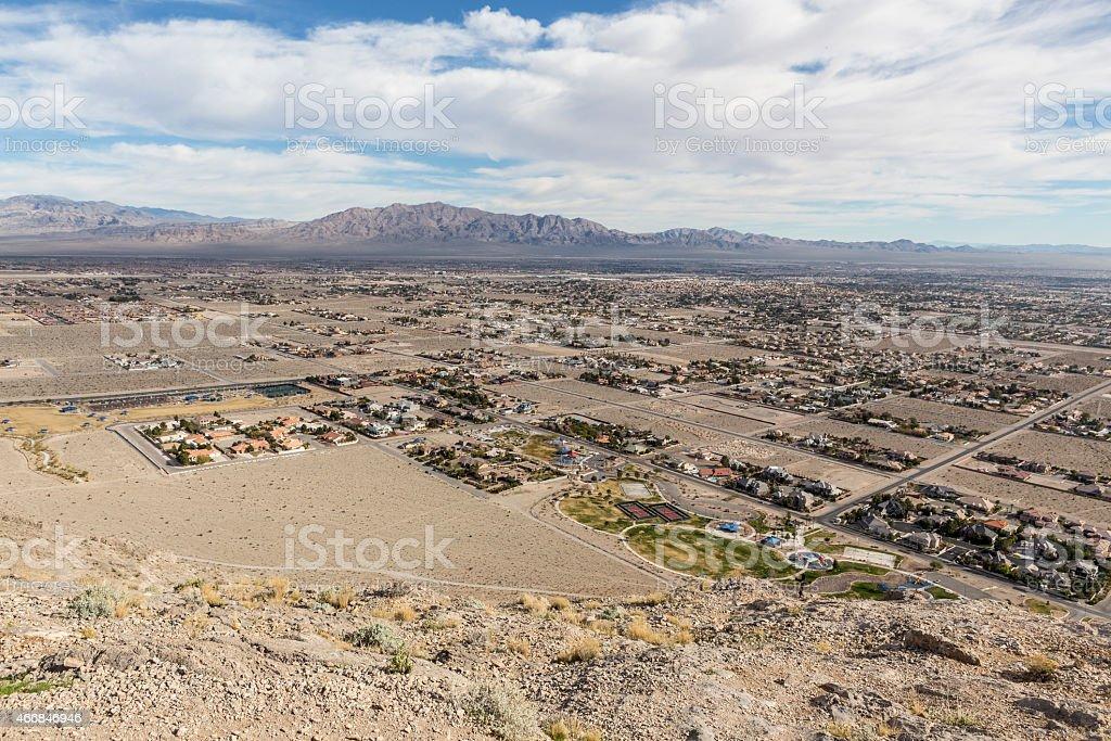 Las Vegas Desert Development stock photo