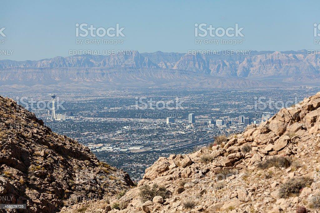 Las Vegas Editorial Mountain View stock photo