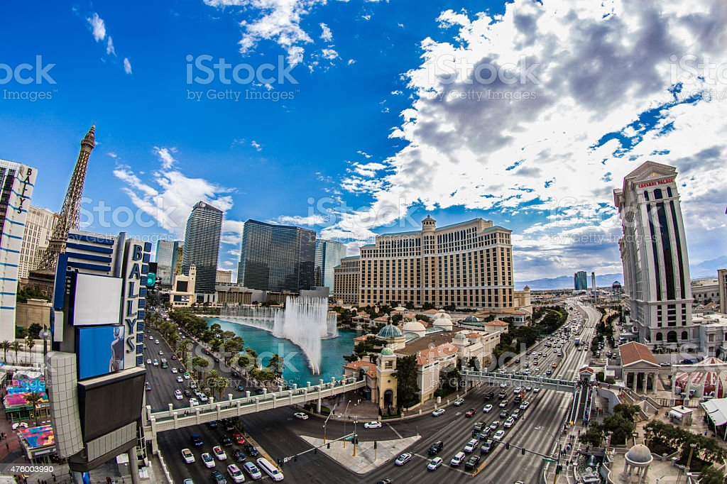 Las Vegas Fountains stock photo