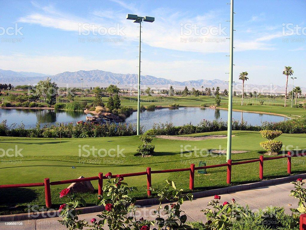 Las Vegas Golf Course royalty-free stock photo