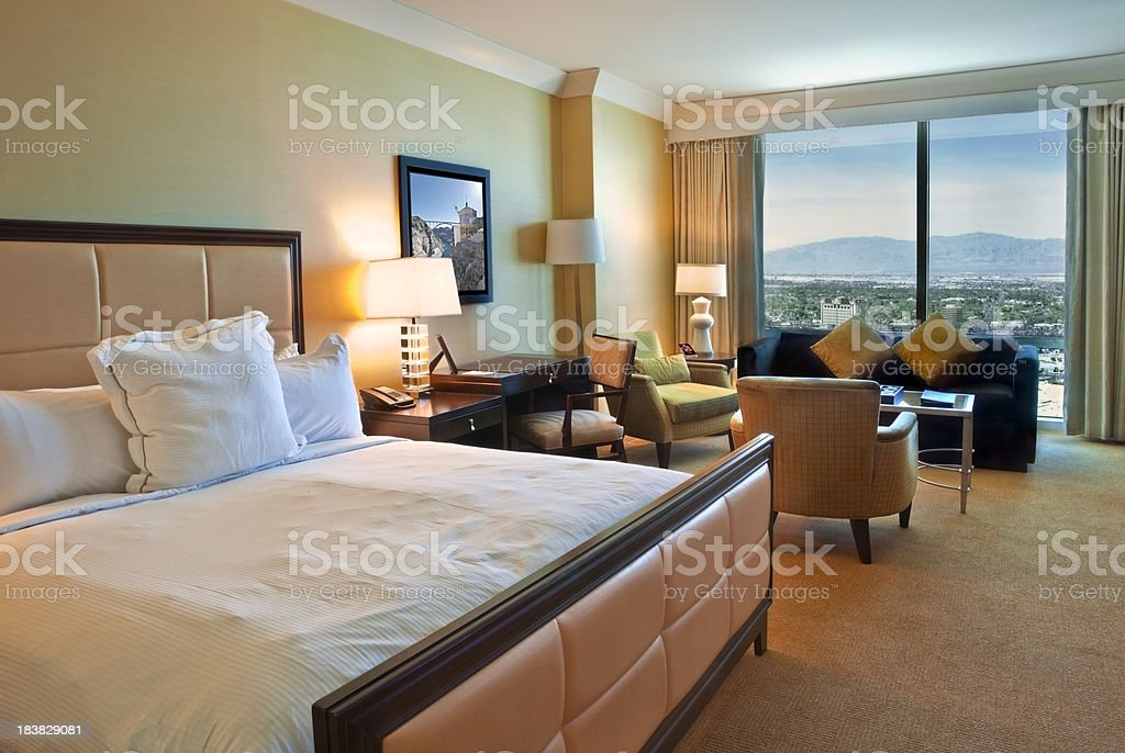 Las Vegas Hotel Room stock photo