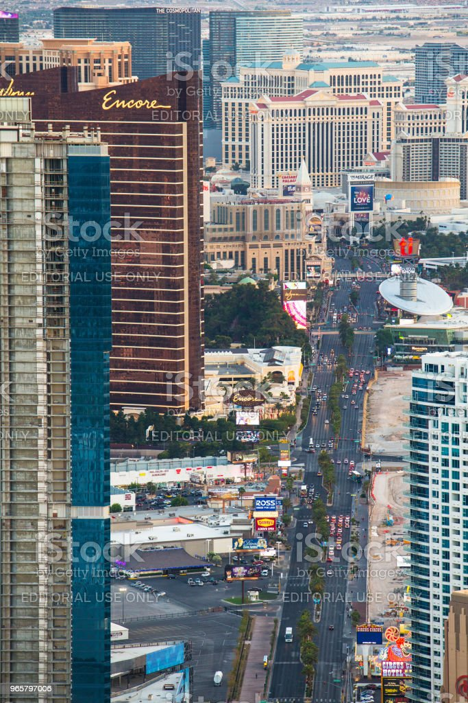 Las Vegas Hotels - Royalty-free Architectuur Stockfoto