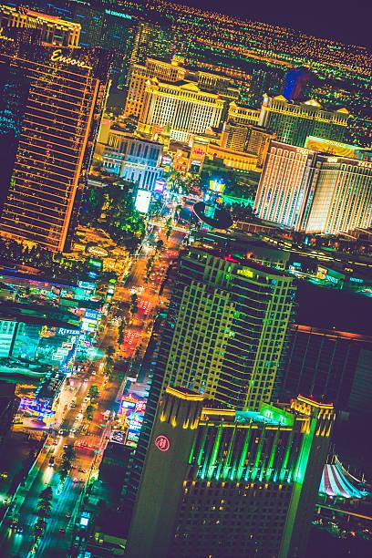Las Vegas in Lights stock photo