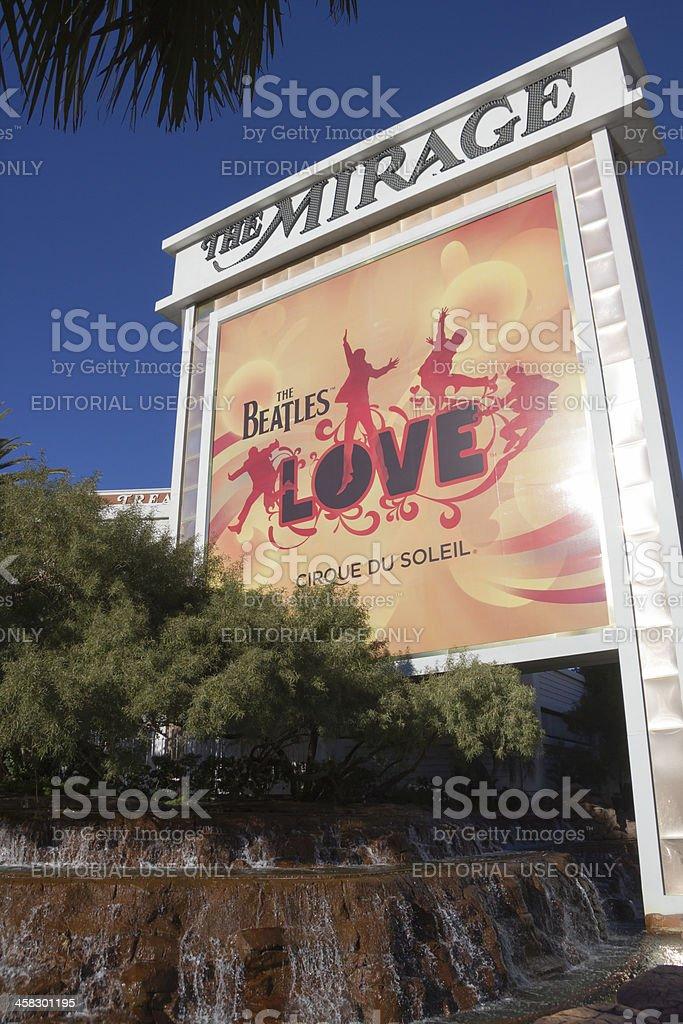 Las Vegas Mirage - Cirque du Soleil Sign royalty-free stock photo