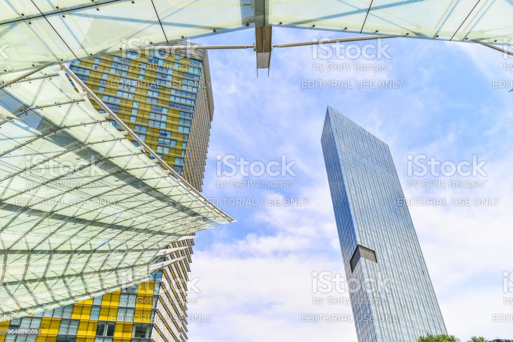 Las Vegas Modern Buildings on the Strip - Royalty-free Architecture Stock Photo