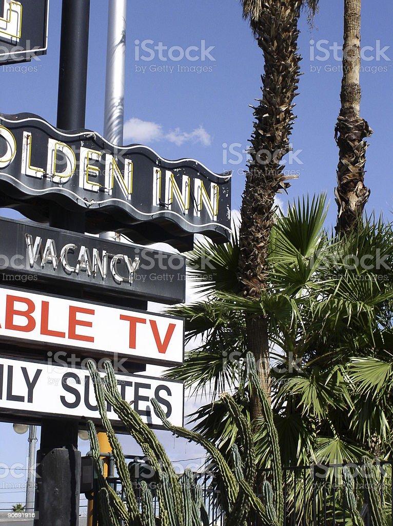 Las Vegas Motel royalty-free stock photo