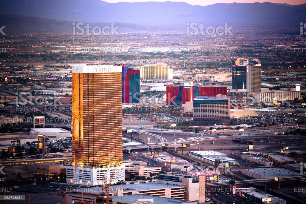 Las Vegas Nevada Hotels - Royalty-free Architectuur Stockfoto