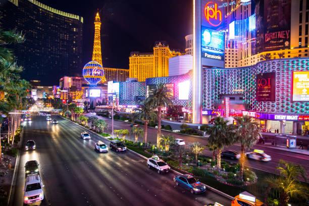 Las Vegas Nevada Night stock photo