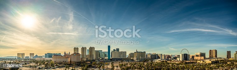 Las Vegas Nevada Skyline Panorama by day