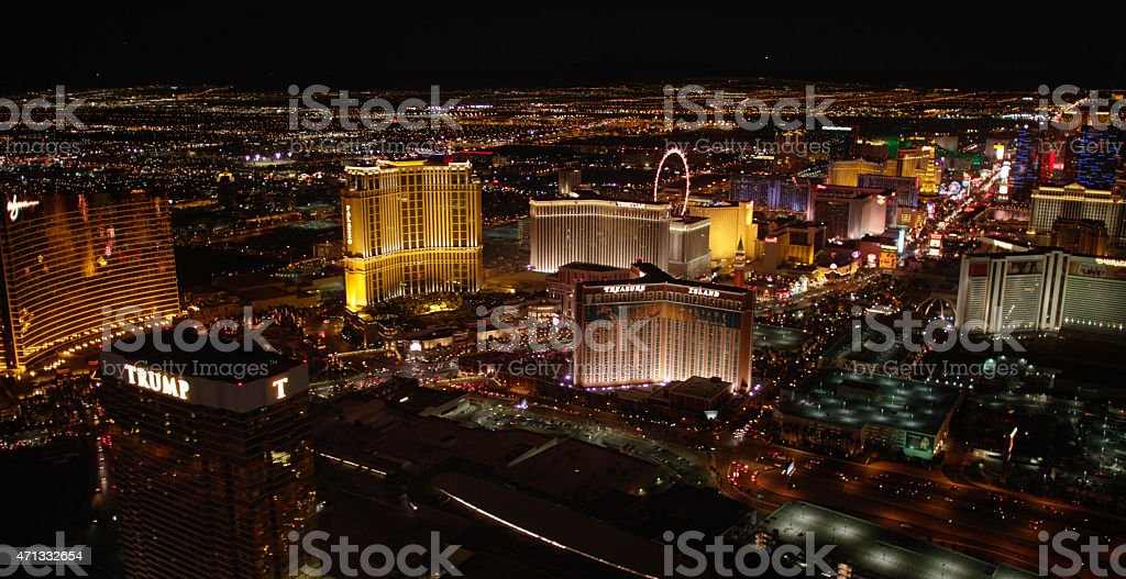 Las Vegas Night Lights stock photo