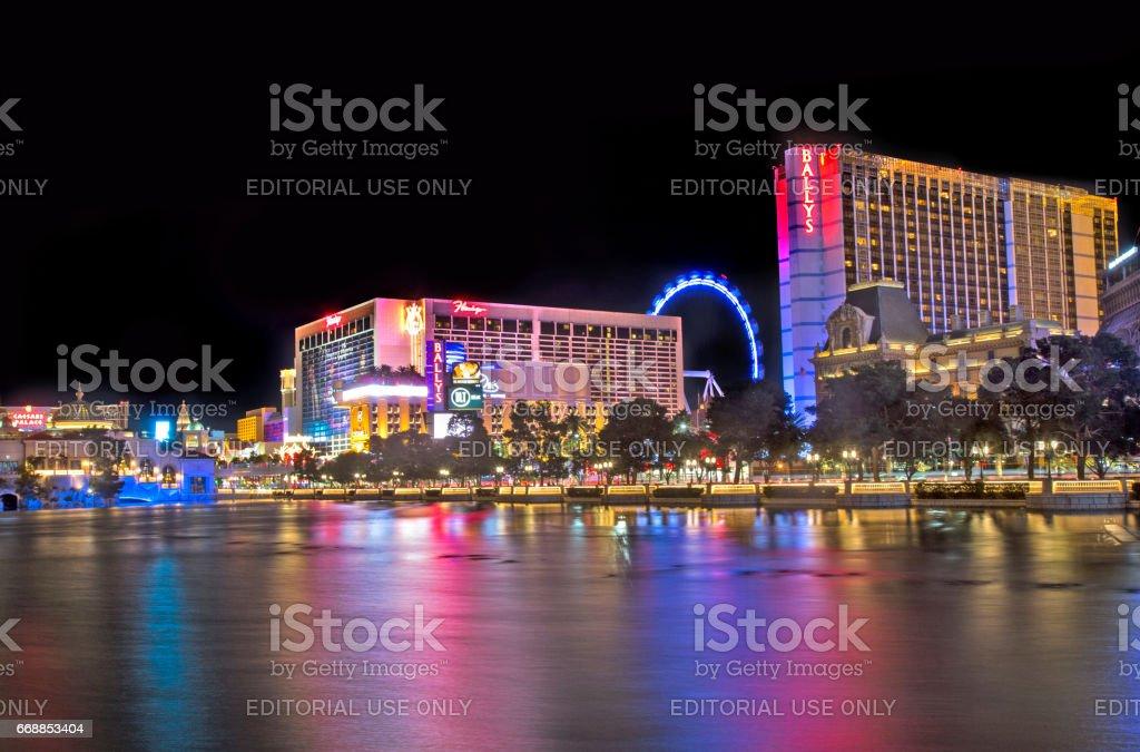 Las Vegas Night Time View stock photo