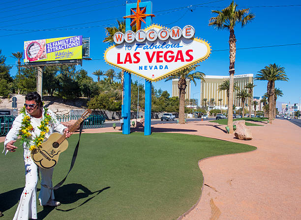 las vegas - elvis stock photos and pictures