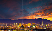 A stock photo of the world famous Las Vegas city skyline.