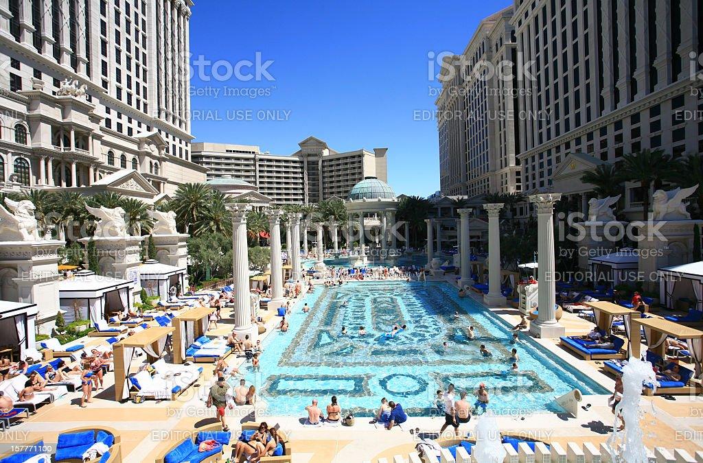 Las Vegas Pool Party stock photo