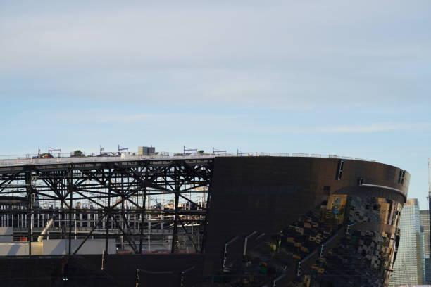 Las Vegas Raiders Stadium under Construction stock photo