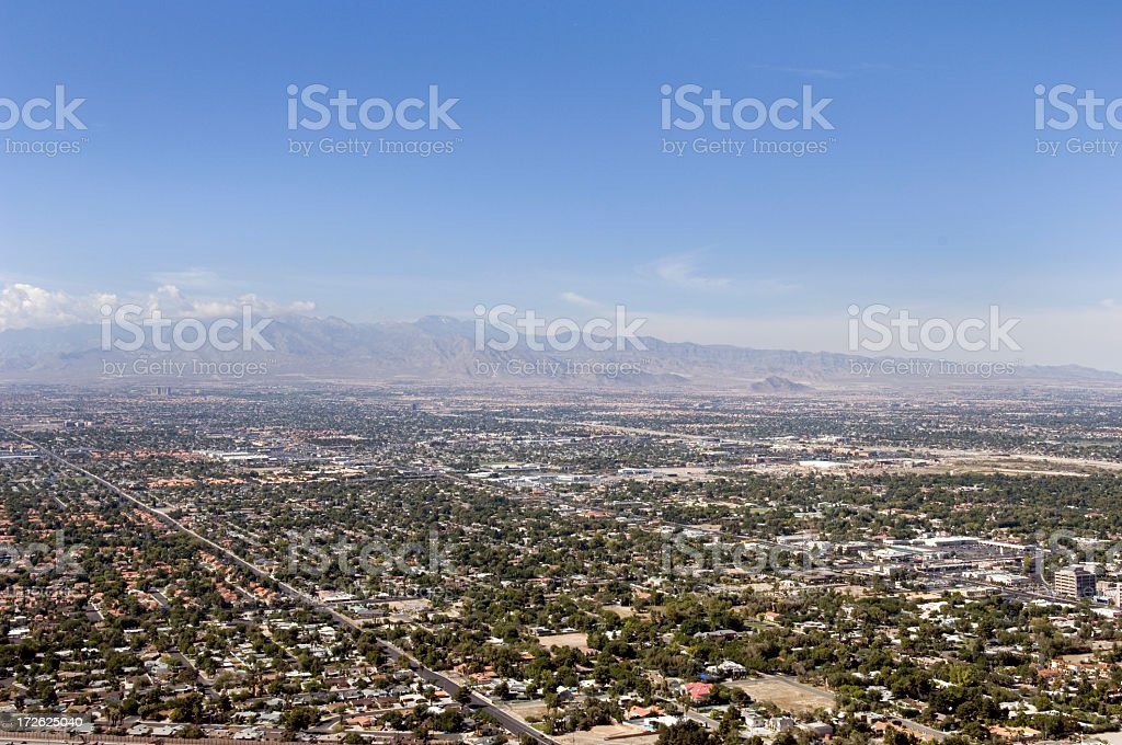 Las Vegas Residential View stock photo