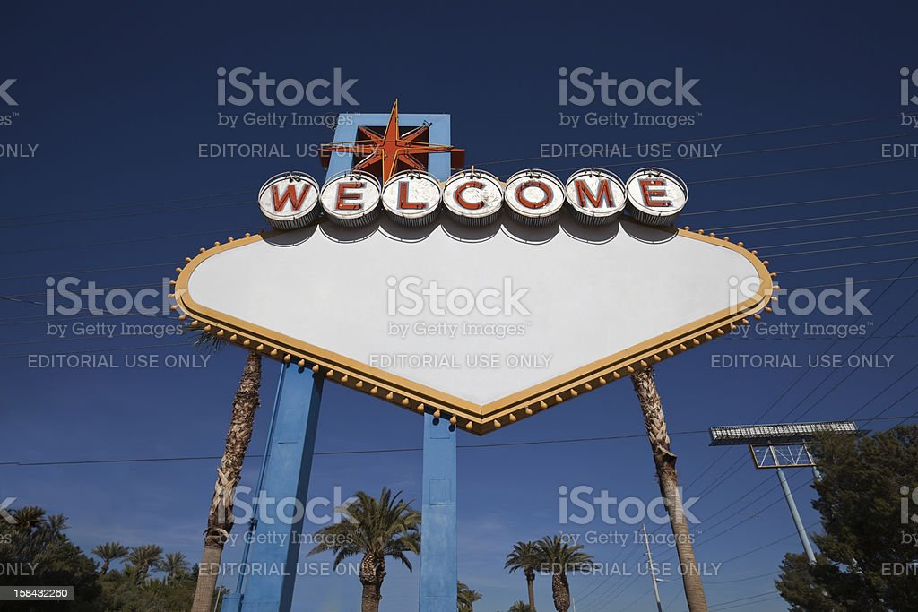 Las Vegas Sign blank with text removed. stock photo