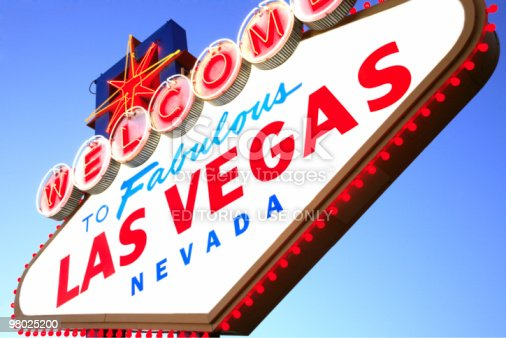 Las Vegas Sign Nv Stock Photo & More Pictures of Bright