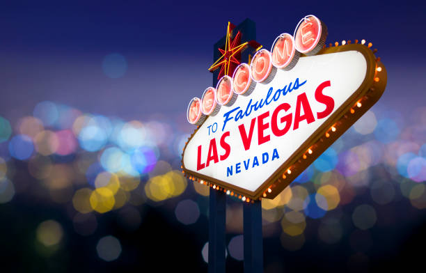 las vegas sign - clark county nevada stock pictures, royalty-free photos & images