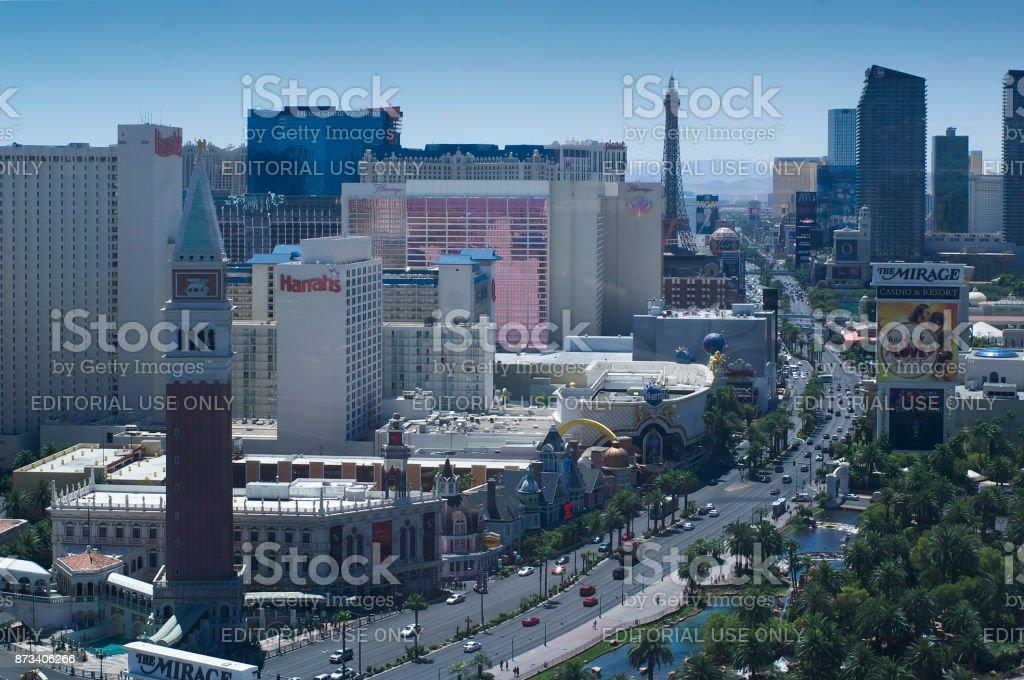 Las Vegas Skyline Aerial View stock photo
