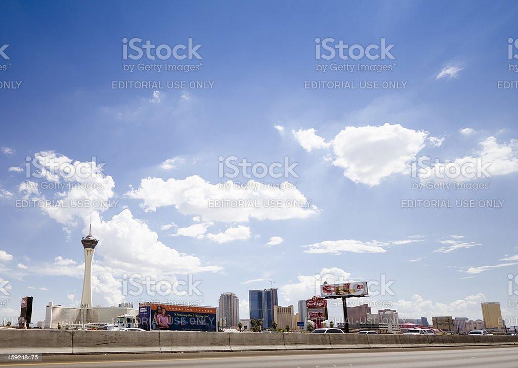 Las Vegas skyline on a day royalty-free stock photo