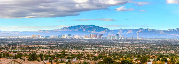 Panoramic view of Las Vegas Nevada