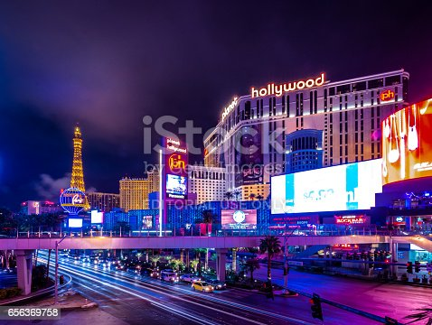 Las Vegas, Nevada, USA - December, 2016: Las Vegas Strip at night