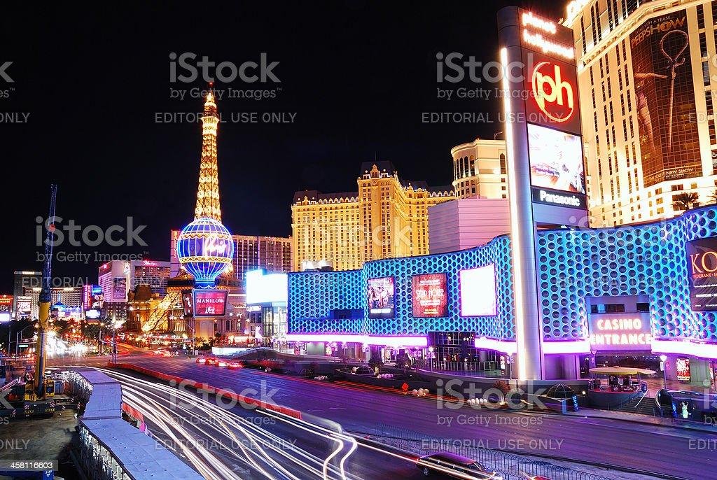 Las Vegas Strip at night - Royalty-free Architecture Stock Photo