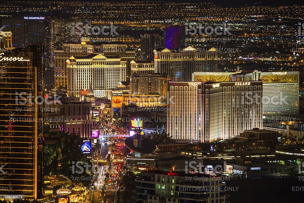 Las Vegas Strip at Night stock photo
