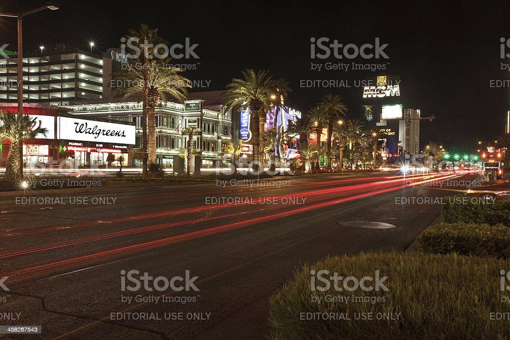 Las Vegas strip at night royalty-free stock photo
